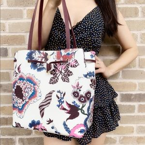 Tory Burch floral large bucket tote Bag